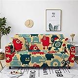 Hellgelb Sofabezug 1/2/3/4 Sitzer Stretch Sofaüberwurf Frosch Blau Rot Stretch Sofaüberwurf Antirutsch Sofaschoner Einzigartiges Pattern Sofaüberzug 3 Sitzer: 190-230 cm
