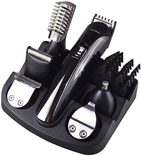 LFSP Professionele tondeuses Multifunctionele tondeuse all-in-one mannen grooming kit verwisselbare hoofd scheermes neus oortrimmer wenkbrauwpotlood rewinder dubbele scheermes en body trimmer draadloo