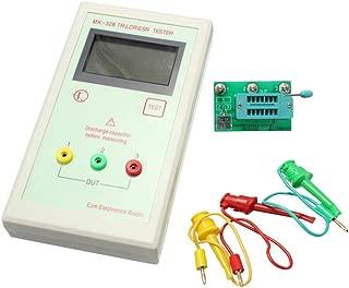 MK-328 Transistor Tester TR LCR ESR Meter Inductance Capacitance Resistance Tester Analyzer Portable Digital LCD Display(White)