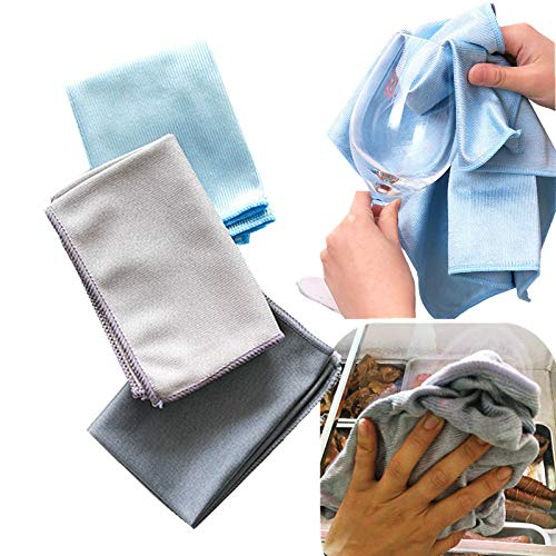 JIAXIA Productos de Limpieza Toalla de Limpieza de Vidrio de Microfibra de 40 * 30 cm, sin Rastro, sin Pelusa, Trapo para el hogar,paño de Limpieza de Espejo paño de Vidrio deLimpieza 6PCS 40-30CM