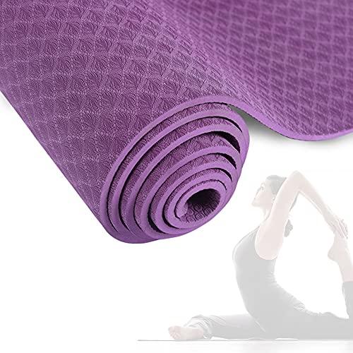Esterilla Yoga Antideslizante Alfombrilla de Yoga Esterilla Pilates Esterilla Deporte, Material TPE ecologico, 6mm, para Pilates, Fitness