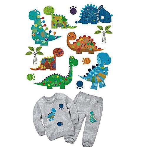 Fllyingu Iron On Transfers parche infantil patrón animal camiseta inyección de tinta imprimible hierro dibujos animados DIY transferencia de calor etiqueta de tela, para la ropa de hierro en la decora