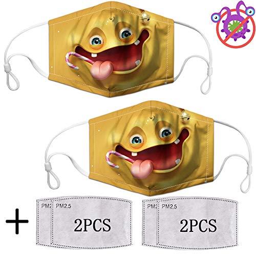 Filtro dell'aria riutilizzabile per bambini Cartone animato 2 pezzi Polvere Bocca Protezione del viso Rinfresco per bambini Purificatore Alito lavabile Protezione salutare Protezione dei bambini Scudo