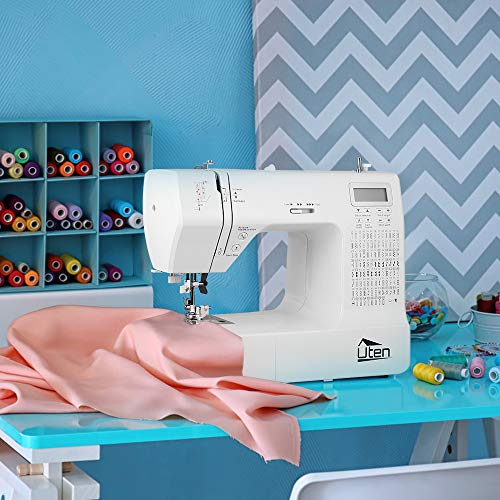 Uten Computerized Sewing Machine Electronic Quilting 200 Stitches 8 Buttonholes Large Screen