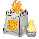 Lixada Camping Stove,Portable Folding Wood Stove Titanium Alcohol Stove for Outdoor Cooking Backpacking Stove