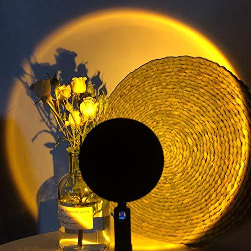 LED Moon Rainbow Sunset Proyector Luz de noche Hogar Dormitorio Coffe Shop Bar Tomar fotos Fondo Decoración de pared Lámpara de mesa-Sunset