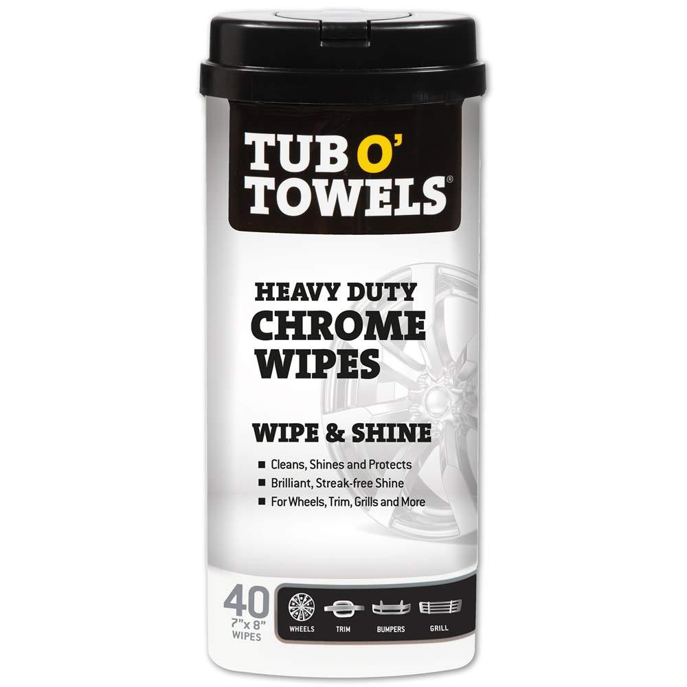Tub O' Towels Heavy Duty Chrome Wipes Selling Regular discount – Clean Shine