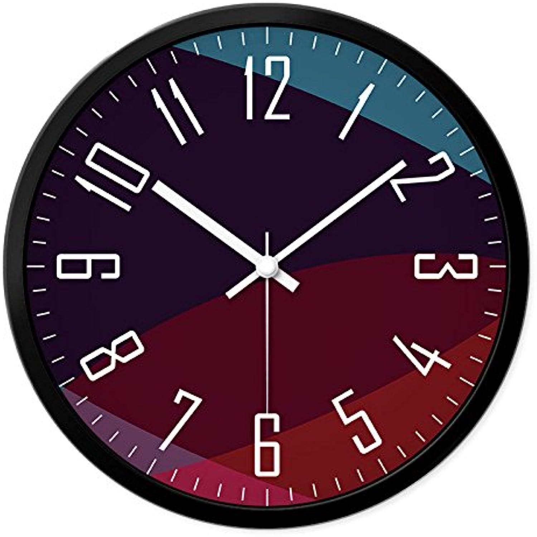 Wall clock WERLM Página de Inicio Personalizada Reloj de Parojo Reloj Relojes de Cuarzo Silencio rojoondo es un Restaurante Familiar cocinas Office escuelas Son Ideales para Cualquier sala14en.I
