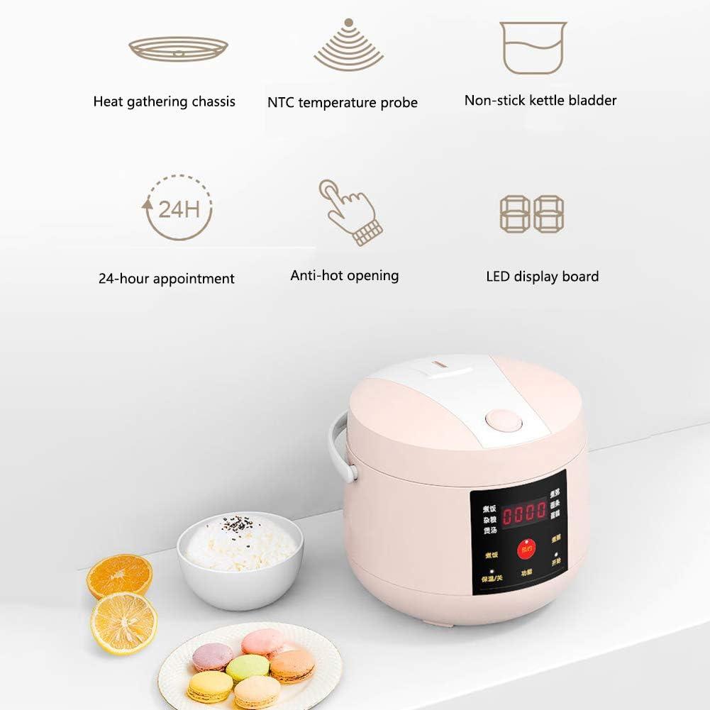 Multifunctionele Draagbare Intelligente Elektrische Rijstkoker Mini Voedsel Stoomboot Yoghurt Machine Cake Maker 24H Afspraak 2.0L,Pink Green
