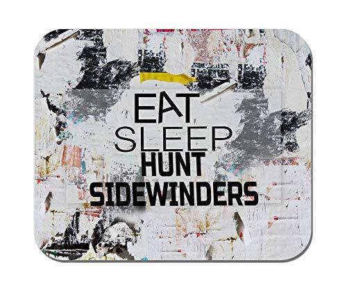 Makoroni - EAT Sleep Hunt SIDEWINDERS Hunting Hunter - Non-Slip Rubber - Computer, Gaming, Office Mousepad