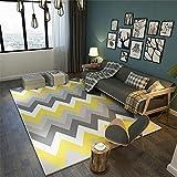 alfombras Dormitorio,Sofá Casual Amarillo de patrón Corrugado a Fondo Ahorro de vacío ,alfombras y moquetas -Amarillo_40x60cm