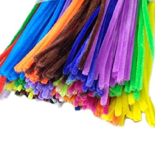 DekoHaus 345 pezzi filo di ciniglia mix di colori pulitore fischietto in peluche, filo per bricolage, pulitore pipa 30 cm/6 mm