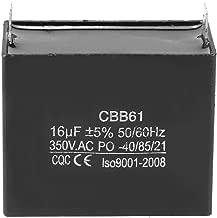 Run Capacitor, CBB61 Motor Running Starting Capacitor Generator CQC 350V AC 16uF 50/60Hz Electronic Components Assortment Run Capacitor