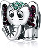 Annmors Elephant Charms Lucky Charm fits Pandora Charms Bracelets for Woman-925 Sterling Silver Dangle Pendant Bead,Girl Jewelry Gifts for Women Bracelet&Necklace&Bangle