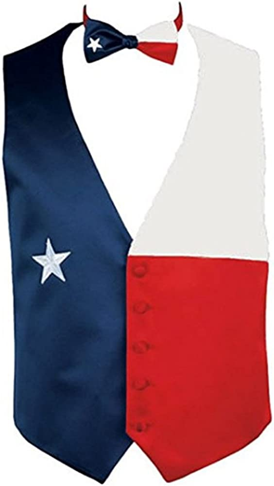 Texas Flag Tuxedo Vest and Bow Tie Set