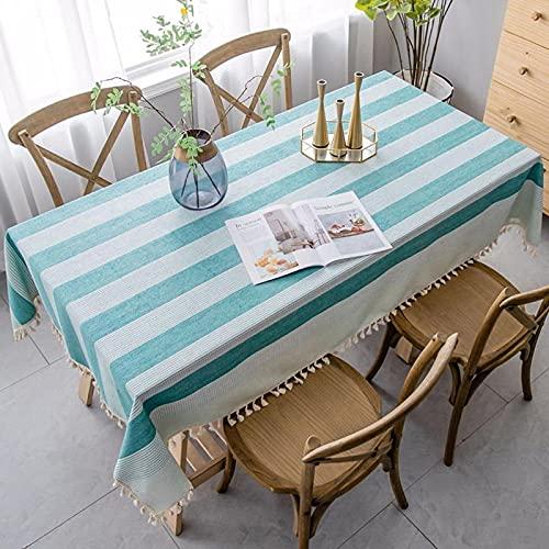 XXDD Tovaglia a Righe Tovaglia Decorativa da Cucina Tovaglia Rettangolare Tovaglie per Tavolo da...
