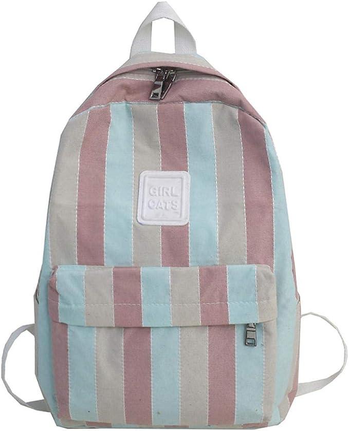 Plaid Women Backpack Teenage Girl School Bag Cute Fashion Backpack Canvas Student Casual Ladies Book Female HeartPink/_L30Cmw12Cmh39Cm