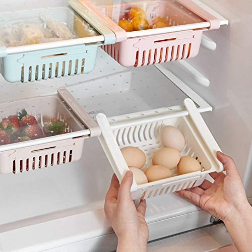 Best Quality Organizer Adjustable Refrigerator Storage Rack Fridge Freezer Shelf, Fridge Storage Box - Fridge Organizers, Fridge Organizer, Mini Fridge Rack, Storage Rack Organizer