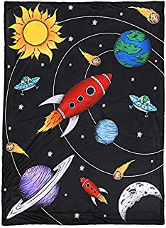 JAXSON'S WORLD Outer Space Theme Baby & Toddler Blanket