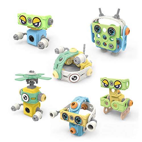 BeebeeRun Juguetes de Construcción para Niños y Niñas Juguetes Educativos de Construcción Stem con Robot&Coche| Kit de Ciencia para Niños Niñas de 3 4 5 6 Años en Adelante (214PCS)