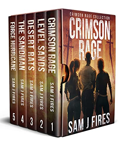 Crimson Rage : A Post-Apocalyptic Survival Thriller: Books 1-5 by [Sam J  Fires]