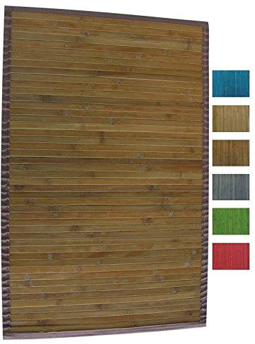 MSV Tapis 60 x 90 cm, Bambou Foncé