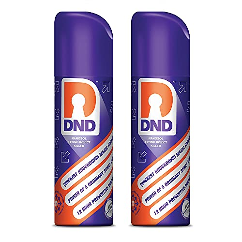DND Nanosol Flying Insect Killer   Mosquito Repellent Spray   Pack of 2-60ml Each