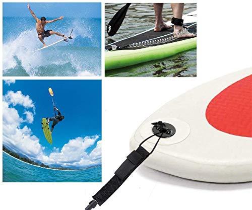 Unigear Leashes de Surf Inventos de Surf Correa Surf Leash Correa de Tabla de Surf Correa de Paleta de TPU Enrollada de 7 mm y 10 Pies