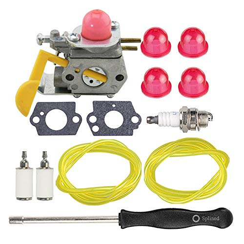Fantastic Deal! Hippotech C1U-W24 545081808 Carburetor with Adjustment Tool Spark Plug for Poulan Fe...