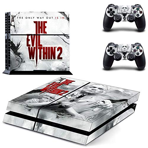 FENGLING The Evil Within 2 Ps4 Skin Sticker Decal per Playstation 4 Console e 2 Controller Skin Ps4 Sticker Vinile Accessorio