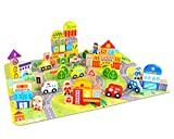 Fat Brain Toys My Town Block Set Building &...