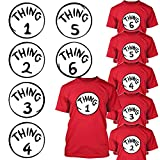 Calculs Thing 1-6 Iron On Heat Transfers Bundle Thing 1 and Thing 2 Shirts Costume Transfer Vinyls 6 Sheets 10 Inches Large