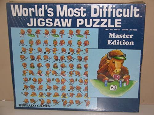 World's Most Difficult Jigsaw Puzzle Master Edition - Buffalo Games - 500 Pieces
