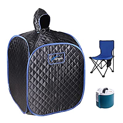 TOREAD Portable Personal Steam Sauna with 2L steam Generator, Indoor Foldable Sauna Spa Tent for Home, Fast Heating in 6 Min, with Remote Control(31.5x31.5x51.2 inch Black)