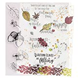 Gummistempel 'Autumn Leaves are Falling Mushroom Words Just a Note', viele Happy Returns,...