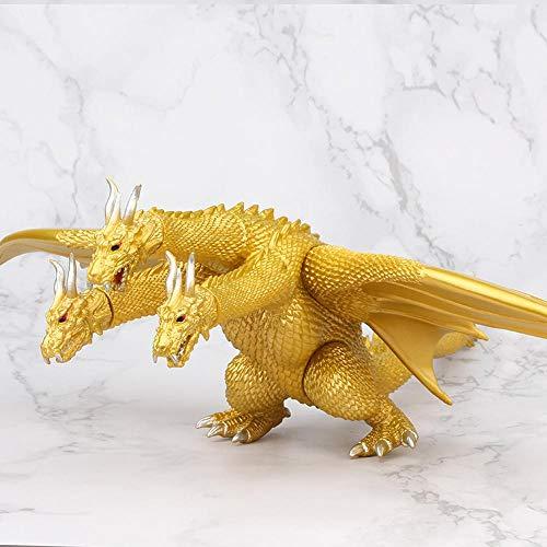 ZHAOHUIYING Driekoppige draak Godzilla standbeeld Anime Cartoon Karakter Model Decoratie 44cm