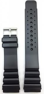 24mm Black Rubber Watch Band | Comfortable and Durable Heavy Duty Thick PVC Material Replacement Wrist Strap for Men and Women