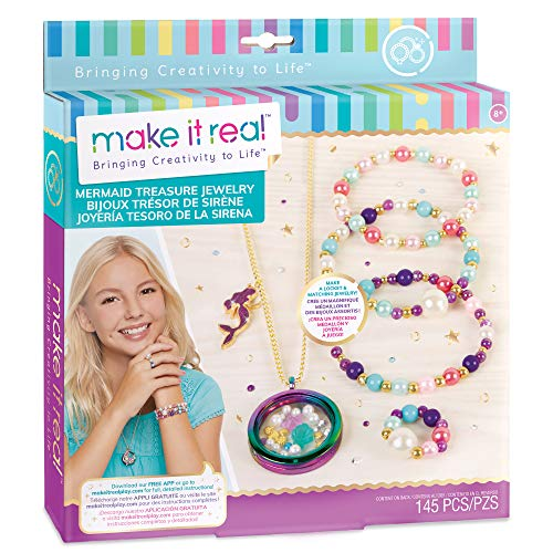 small Make it a reality – Mermaid Treasures Jewel. DIY kit for making jewelry for girls in mermaid style. guide…