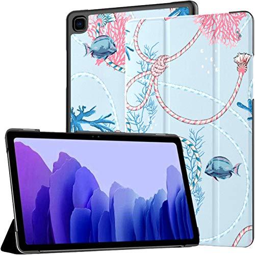 Funda para Samsung Galaxy Tab A7 Tableta de 10,4 Pulgadas 2020 (sm-t500 / t505 / t507), Bonita Funda de Soporte de ángulo múltiple de Mano Pastel Dulce con activación/suspensión automática