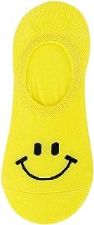 Calcetines Mujer Cortos Estampado De Emoji Calcetines Invisibles De Algodón Para Mujer Y Hombre Casual Calcetines Tobilleros Para Mujer Negras Antideslizantes Respirable Calcetines (1 Par)