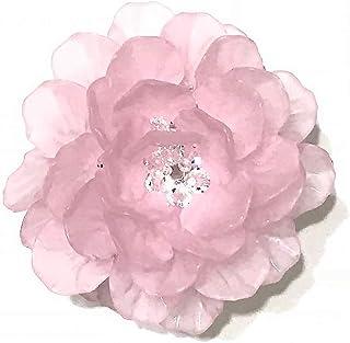 【完成品】フラワーティーライト・ピンク プレゼント 贈り物 記念日 バースデー テーブルセッティング ベッドサイド 明かり 照明 (Pink)