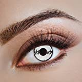 aricona Kontaktlinsen - Weiße Zombie Kontaktlinsen - farbige Kontaktlinsen ohne Stärke für Halloween & Kostüm-Partys