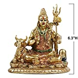 Lord Shiva Idol Statue Cow Nandi - Hindu God Statue Indian Home Temple Mandir Pooja Murti Decor Indian Shiva Lingam Figurine Wedding Return Diwali Decoration