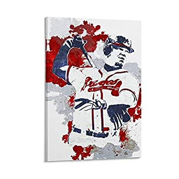 DFGHD Superstar Chipper Jones Baseball Player Poster Poster Decorative Painting Canvas Wall Art Living Room Posters Bedroom Painting 12x18inch 30x45cm