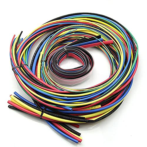 HIXISTO Cable Sleeves,Cubre Cables 55m / Kit Tubo de Encogimiento de Calor...