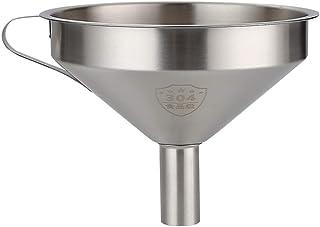WHK Entonnoir de cuisine en acier inoxydable avec filtre à huile amovible qui transmet le distributeur de liquide (diamètr...