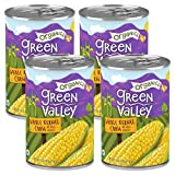 Green Valley Organics Whole Kernel Corn | Certified Organic | 100% Supersweet Variety Corn | 15 oz can (Pack of 4)
