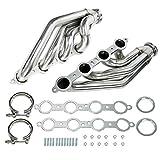 BLACKHORSE-RACING LS Turbo Exhaust Manifolds Headers for 1997-2014 Chevy Small Block LSX, LS1, LS2, LS3, LS6 (1 3/4' Primaries) Forward Facing Up