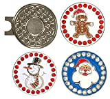 Giggle Golf Bling Holiday Golf Ball Marker Pack | Includes One Gingerbread Man, One Snowman, and One Santa Bling Ball Marker