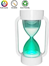 SuLiao Hourglass Sand Timer Lamp: 7 Color Changing & Warm Light for Kids Stay Focused (10 Minutes)
